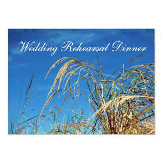 Blue Sky and Grass Wedding Rehearsal Invitations
