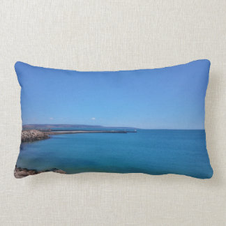 Blue Sky and Ocean Landscape Throw Pillow