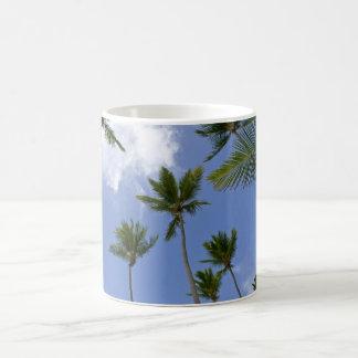 Blue Sky and Palm Trees Coffee Mug
