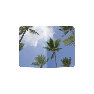 Blue Sky and Palm Trees Passport holder