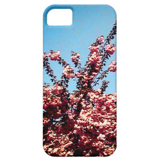 Blue Sky and Pink Leaves Barely There iPhone 5 Case