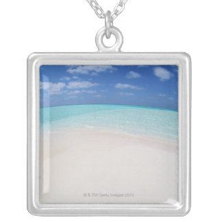 Blue sky and sea 10 silver plated necklace