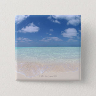 Blue sky and sea 11 15 cm square badge