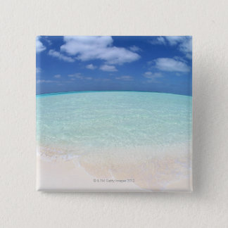 Blue sky and sea 12 15 cm square badge