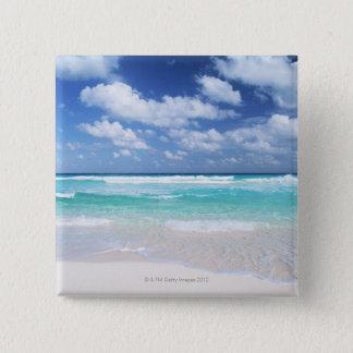 Blue sky and sea 14 15 cm square badge
