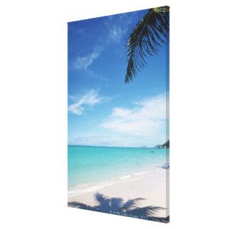 Blue sky and sea 16 canvas print