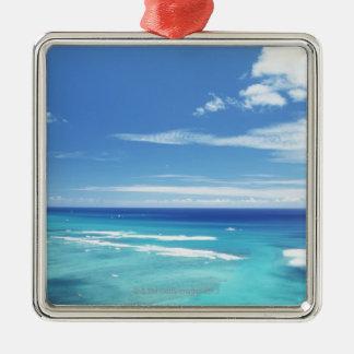 Blue sky and sea 17 christmas ornament