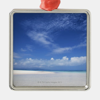 Blue sky and sea 2 christmas ornament