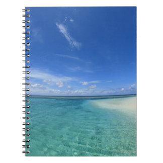 Blue sky and sea 6 notebooks