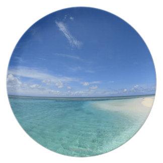 Blue sky and sea 6 plate