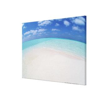 Blue sky and sea 8 canvas print