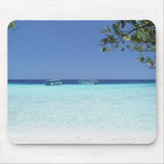 Blue sky and sea 9 mouse pad