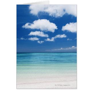 Blue sky and sea card