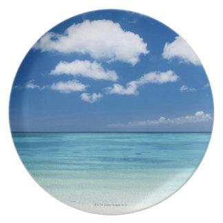 Blue sky and sea plate