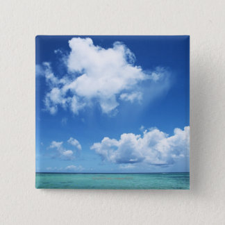 Blue Sky and the Sea 15 Cm Square Badge