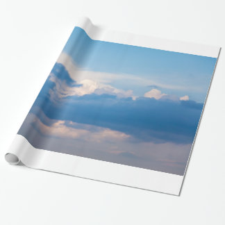 Blue Sky and White Clouds Heavenly Cloud Template Wrapping Paper