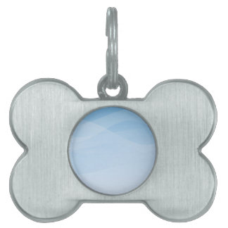 Blue Sky Background Pet ID Tag