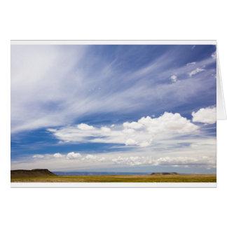 Blue sky card