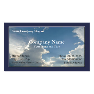 Blue Sky Clouds Business Card