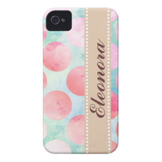 Blue Sky Clouds, Pink Dots Case-Mate iPhone 4 Cases