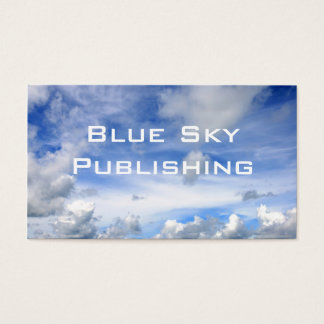 Blue Sky Clouds - Standard Business Card