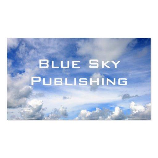 Blue Sky Clouds - Standard Business Card