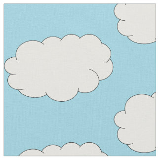 Blue sky cloudy day fabric