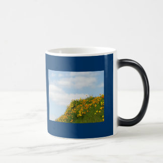 Blue Sky Coffee Mugs custom White Clouds Floral