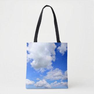 Blue sky customisable bag tote bag