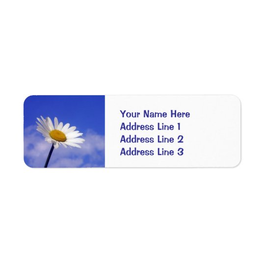 Blue Sky Daisy Return Address Label
