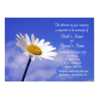 Blue Sky Daisy Wedding Invitation