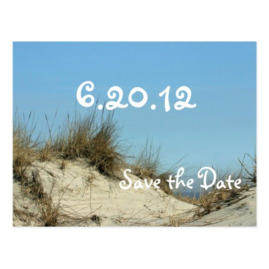 Blue Sky & Dunes Save the Date Postcards