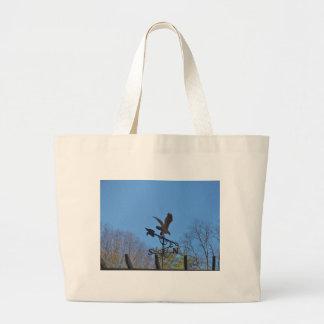 Blue sky Eagle and Arrow Weather vane Canvas Bag