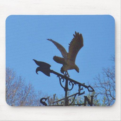 Blue sky, Eagle and Arrow Weather vane Mousepad