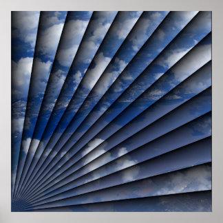 Blue sky fan poster