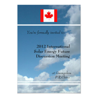 Blue sky,flag or logo international meeting 13 cm x 18 cm invitation card