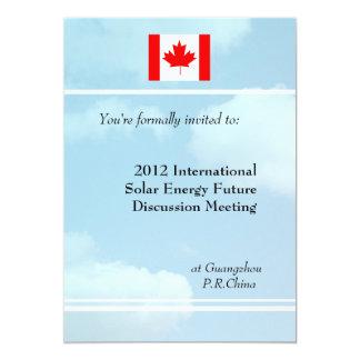 Blue sky,flag or logo international meeting invitation