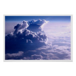 Blue Sky Flying Through Clouds Poster