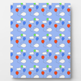 blue sky, free balloons plaque
