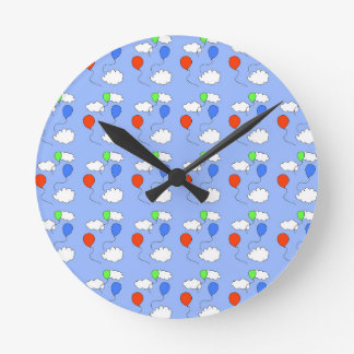 blue sky, free balloons round clock