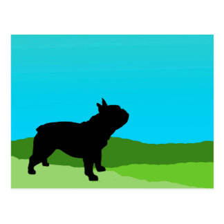 Blue Sky French Bulldog Postcard