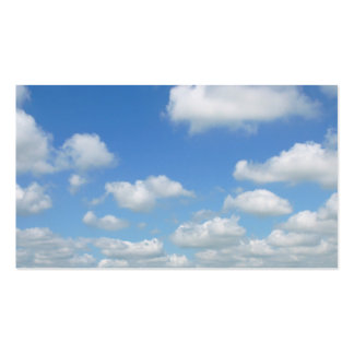 Blue Sky Fresh Air Clouds Double-Sided Standard Business Cards (Pack Of 100)