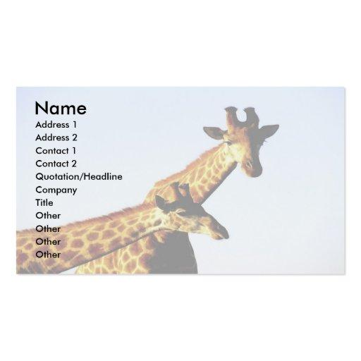 Blue Sky Giraffe Business Card