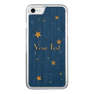 Blue Sky Golden Stars Carved iPhone 8/7 Case