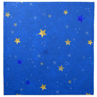 Blue Sky Golden Stars Napkin