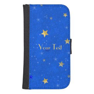 Blue Sky Golden Stars Samsung S4 Wallet Case