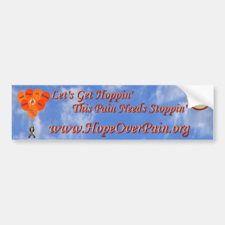 Blue Sky Help Solve the Mystery CRPS RSD Balloons Bumper Sticker
