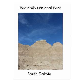 Blue sky in the Badlands Postcard