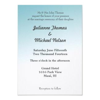 "Blue Sky 5"" X 7"" Invitation Card"