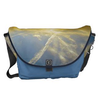 Blue Sky - Large Rickshaw Messenger Bag